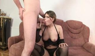 Babe feels how her anal gap acquires stuffed by big subrigid schlong