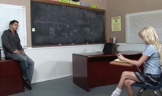 Kinky teacher makes schoolgirl fuck with him for wonderful marks