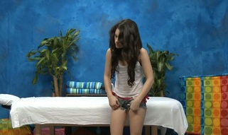 Sexy eighteen year old dark brown slut receives drilled hard by her massage therapist!