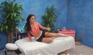 Take a look at anything what is going on here and u wouldn't stay indifferent! Marvelous angel with wonderful-looking fresh forms of body seduces handsome sporty muscle masseur to fuck her wildly.