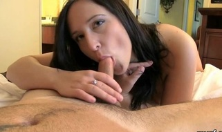 Sexy young sweetheart meets the 1st big dick in her fucking life