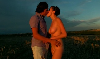 Nubiles organize wild stunning outdoors sex during the sunset