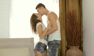 Stud is driving playgirl insane with his passionate licking
