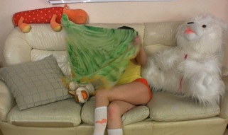 Teen and Plushie are pushed hard and fucked