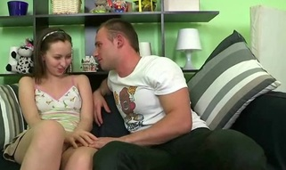 Hawt girl gets screwed in various positions by her nasty friend