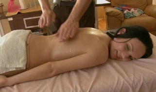 Nice-looking masseur is plowing alluring honey's cunt wildly