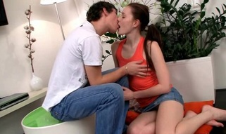 Wonderful legal age teenager couple is having precious sex in front of camera