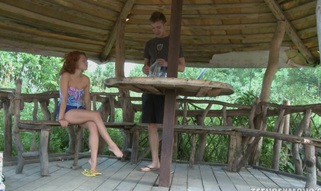Sex crazed teen loves to fuck by the lake