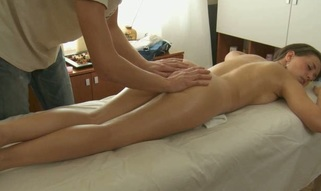 Charming masseur is plowing alluring hottie's wet crack wildly