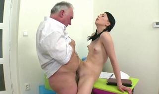 Aged teacher is taking advantage of sinless hotty