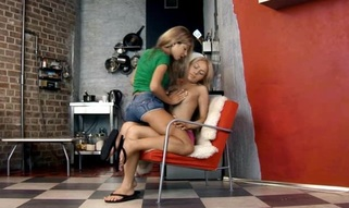 Have pleasure looking at how three legal age teenager lesbo women caressing nicely
