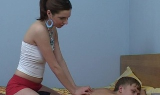 Legal Age Teenager chick start massage, which turns into a ardent fucking