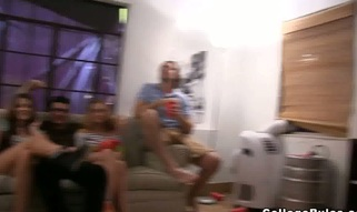 Crazy college sex party with young legal age teenagers that are jock insane