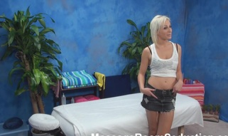 The golden-haired hottie felt strong temptation to have sex with masseur in the pont of time when this chab entered the massage room. Stud wasn't against of screwing her nicely. Watch blondie giving a head in advance of wild sex.