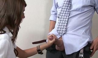 Kinky teacher examines girl