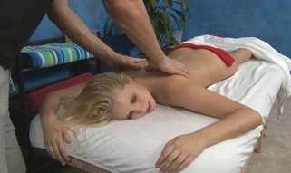 These three gals fucked hard by their massage therapist after getting a soothing rubdown