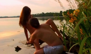 Watch wonderful legal age teenager pounding taking place in the nature