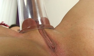 Stuffing love tunnel beads and fake cock into twat drives hottie desirous