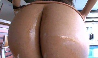 Cute playgirl stands in different poses getting ass banged