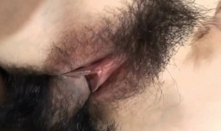Sweet-looking beauty is performing really great oral-sex