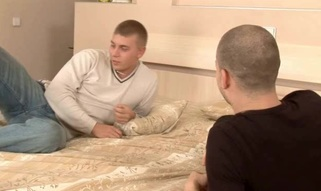 Youthful darling is satisfying two wild and coarse jocks