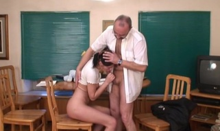 Blameless darling is tempted by an old and horny teacher